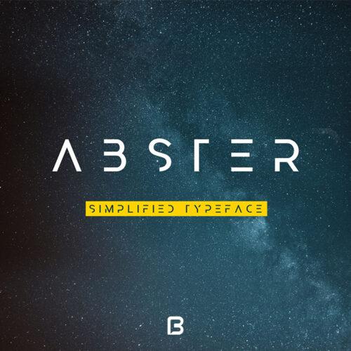فونت خاص انگلیسی Abster
