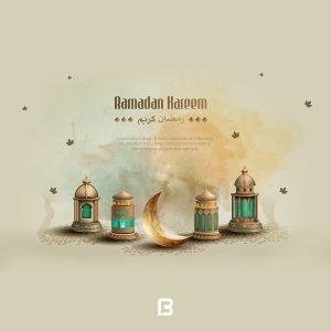 طرح وکتور ماه مبارک رمضان