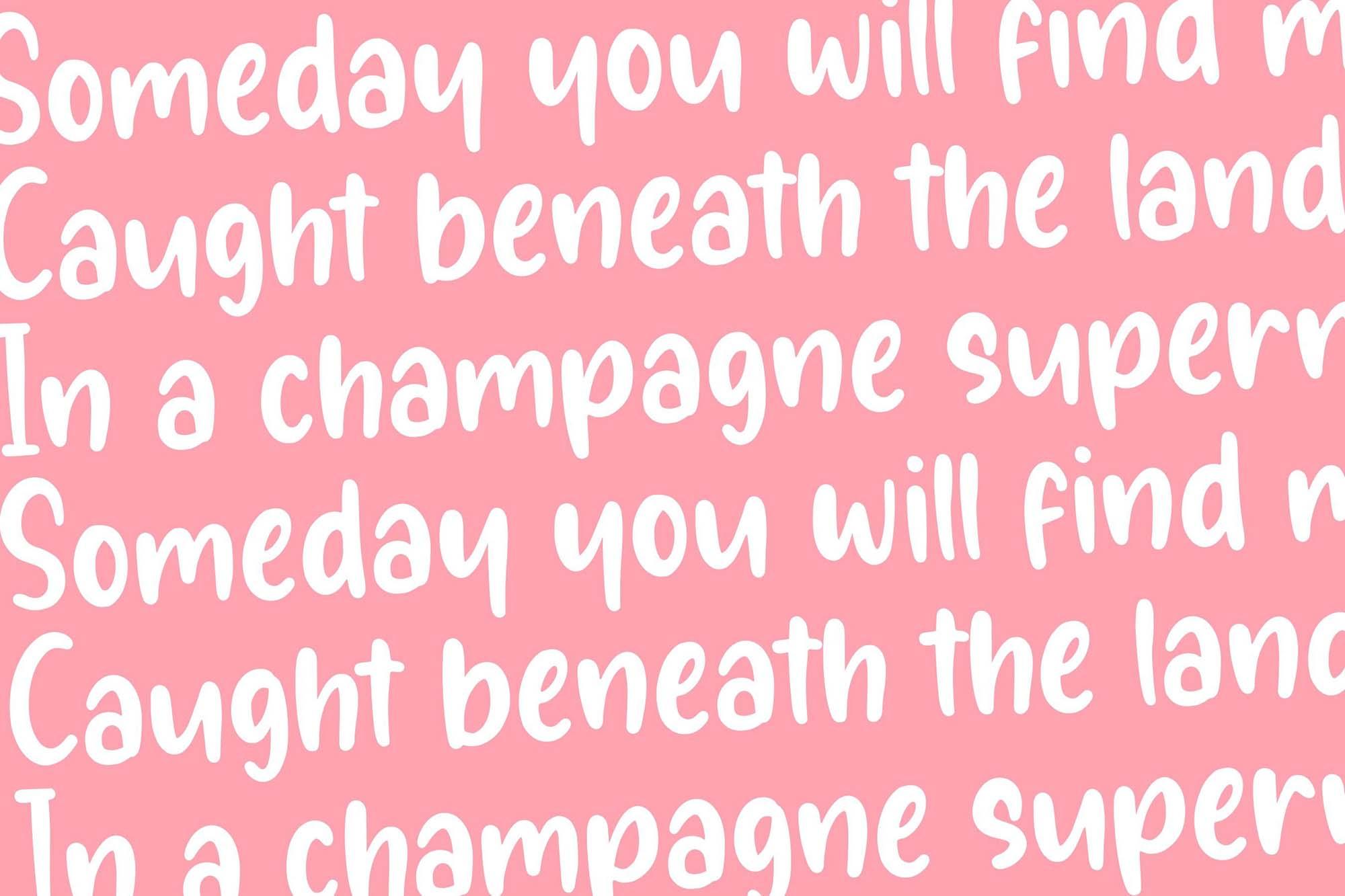 فونت دست نویس انگلیسی Sunglory