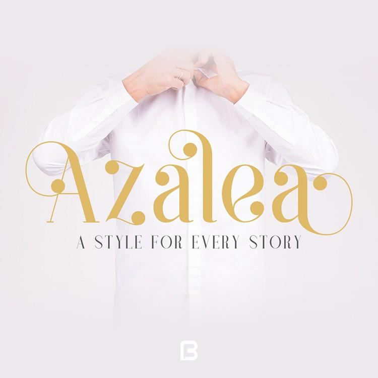 فونت خاص انگلیسی azalea