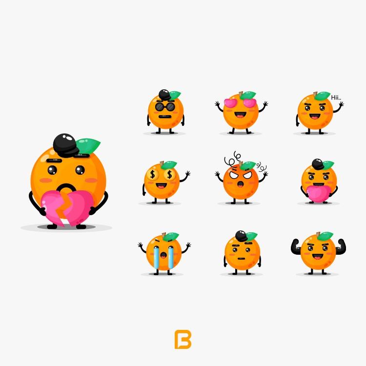 وکتور سبزیجات و میوه های کارتونی