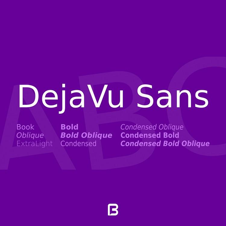 مجموعه فونت استاندارد انگلیسی DejaVu