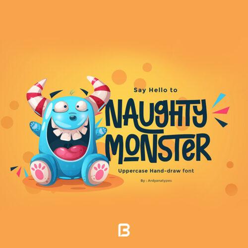 فونت انگلیسی فانتزی Naughty Monster
