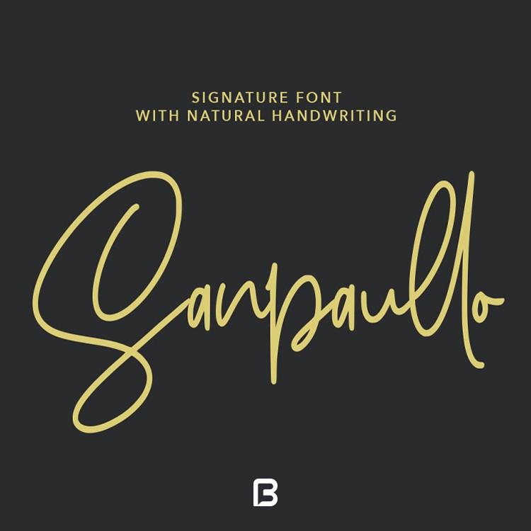 فونت دست نویس انگلیسی Sanpaullo
