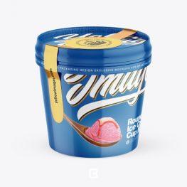 موکاپ لایه باز ظرف بستنی