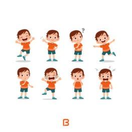 مجموعه 8 وکتور کاراکتر کودک