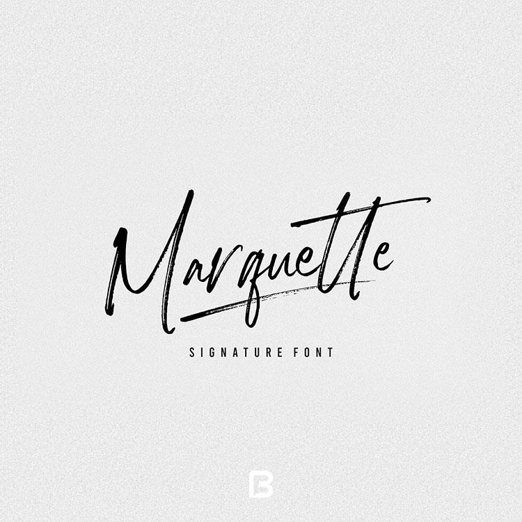 فونت امضا انگلیسی Marquette