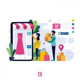 وکتور خرید اینترنتی لباس زنانه