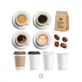 10 وکتور قهوه و فنجان