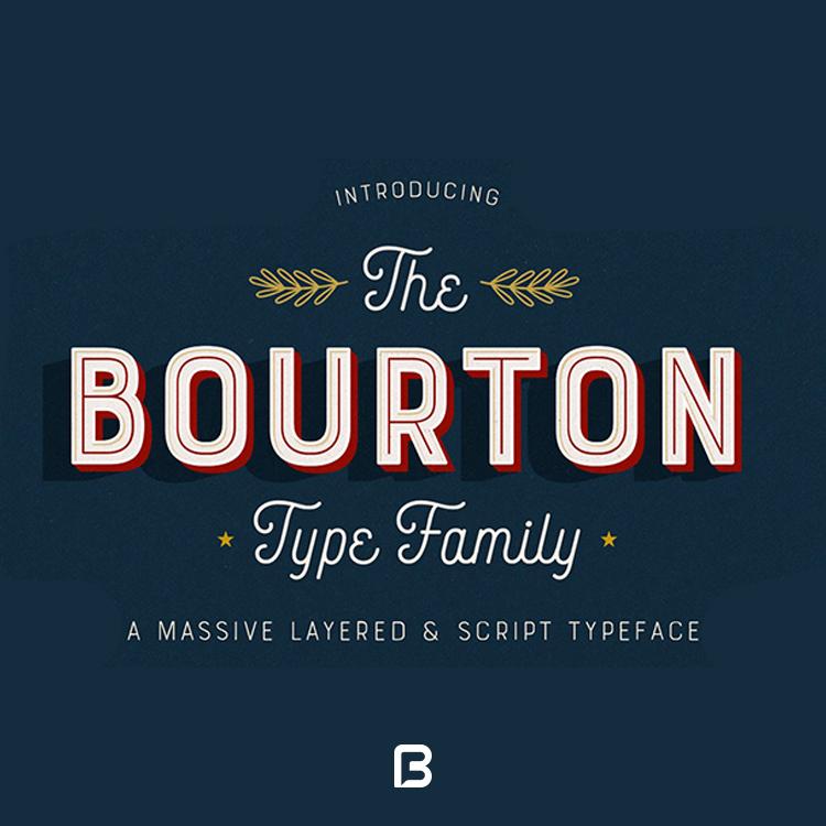 فونت بینظیر Bourton در سبک های متنوع