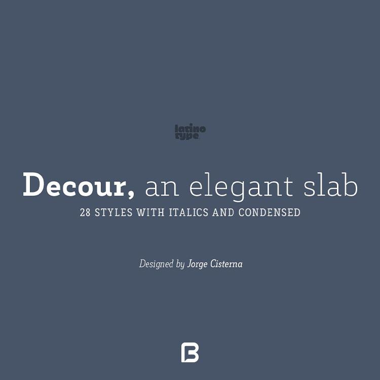 فونت جذاب و زیبای Decour