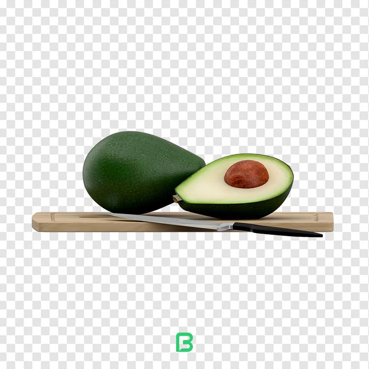 عکس بدون پس زمینه میوه آووکادو – کد ۱۸
