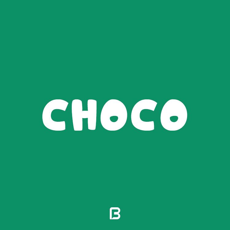 فونت فانتزی انگلیسی Choco
