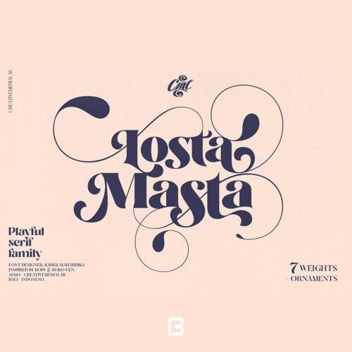 فونت خاص انگلیسی losta masta در 7 وزن