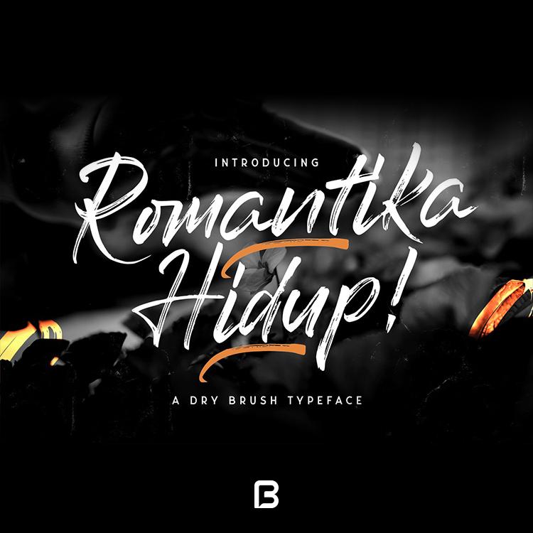 فونت شکسته انگلیسی Romantica Hidup