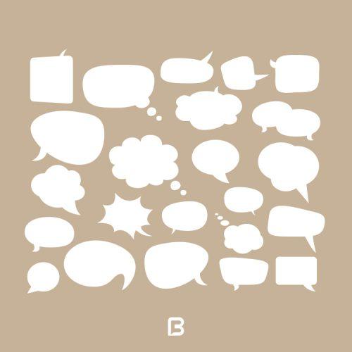 23 وکتور حباب های گفتگو