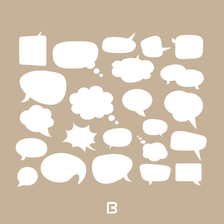 ۲۳ وکتور حباب های گفتگو