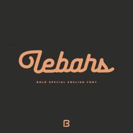 فونت خاص انگلیسی Lebars
