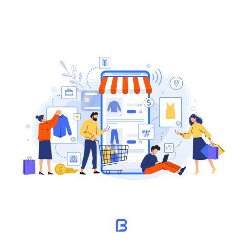 وکتور خرید اینترنتی از فروشگاه لباس