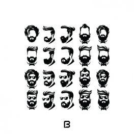 مجموعه 20 وکتور مدل موی مردانه