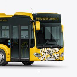 موکاپ اتوبوس شهری