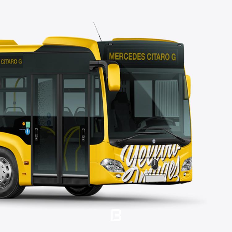 موکاپ لایه باز اتوبوس شهری