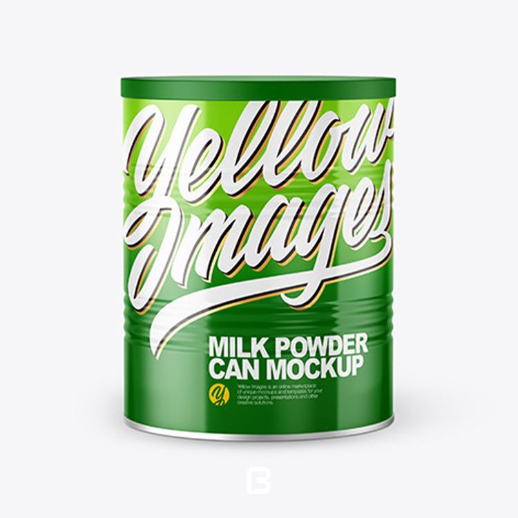 موکاپ لایه باز قوطی شیر خشک