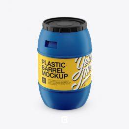 دانلود موکاپ بشکه پلاستیکی