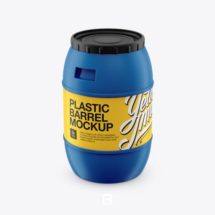 موکاپ لایه باز بشکه پلاستیکی