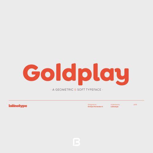 فونت مینیمال انگلیسی goldplay با ۲۸ وزن