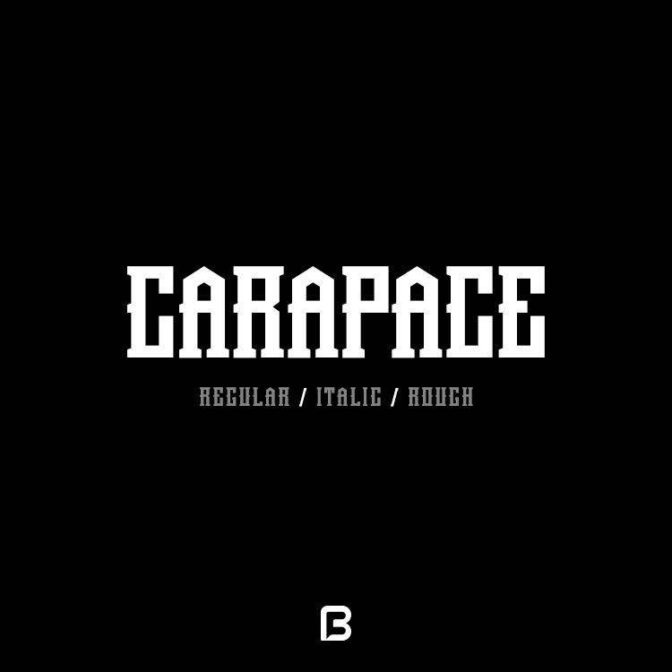فونت خاص انگلیسی Carapace