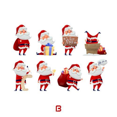 مجموعه ۸ وکتور بابانوئل