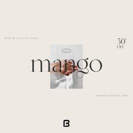 فونت خاص انگلیسی mango در 8 وزن