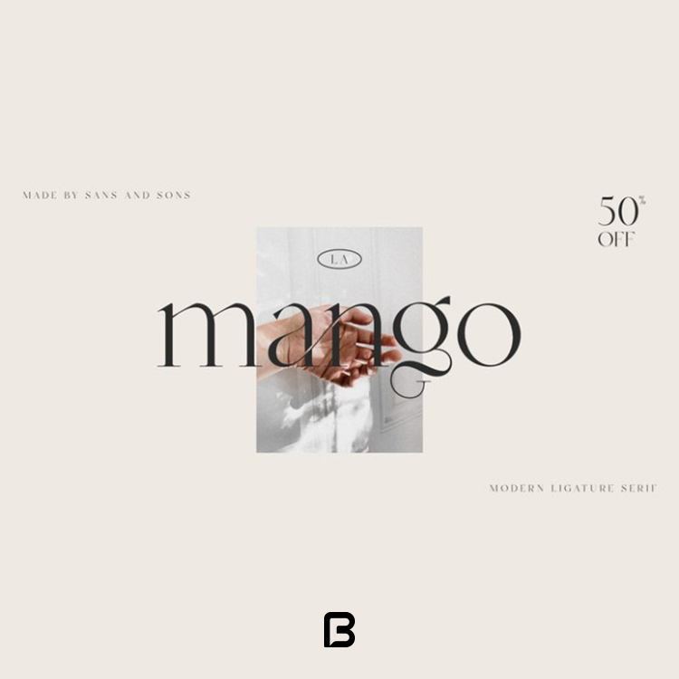 فونت خاص انگلیسی mango در ۸ وزن