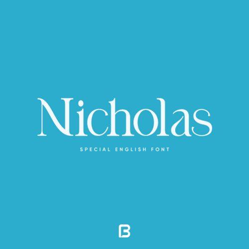 فونت خاص انگلیسی Nicholas