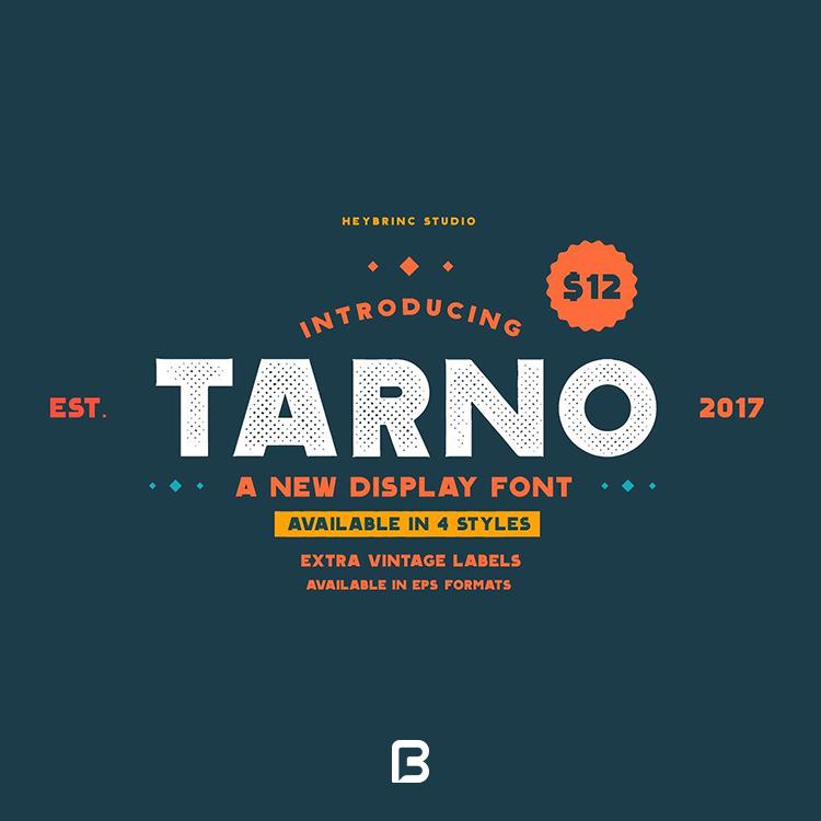 فونت انگلیسی جدید Tarno font