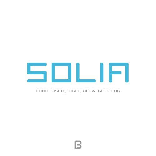 فونت خاص انگلیسی Solia Sans