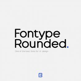 فونت انگلیسی مینیمال Fontype Rounded