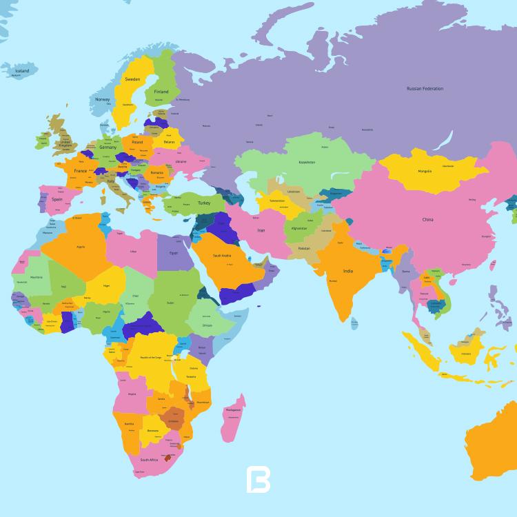 وکتور نقشه جهان لایه باز