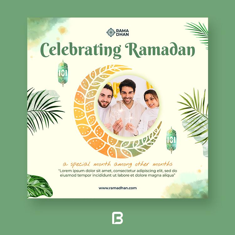 قالب پست اینستاگرام ماه رمضان