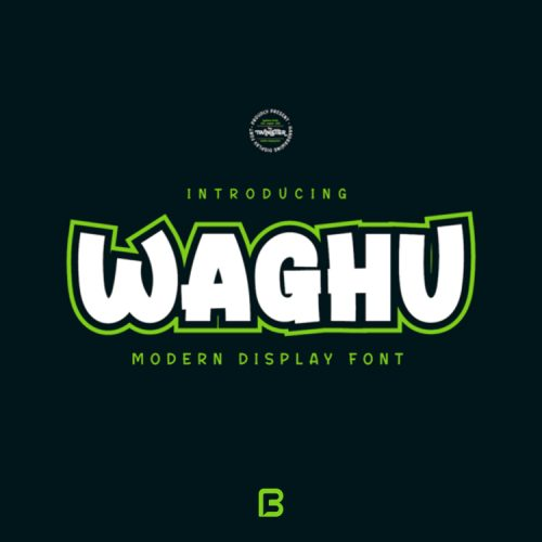 فونت خاص انگلیسی Waghu