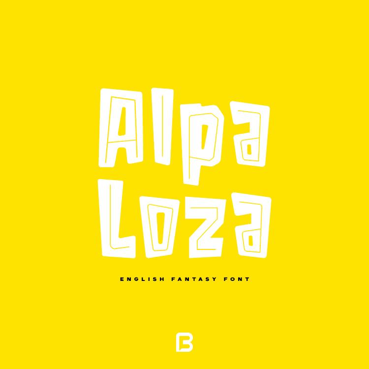 فونت انگلیسی فانتزی Alpa Loza