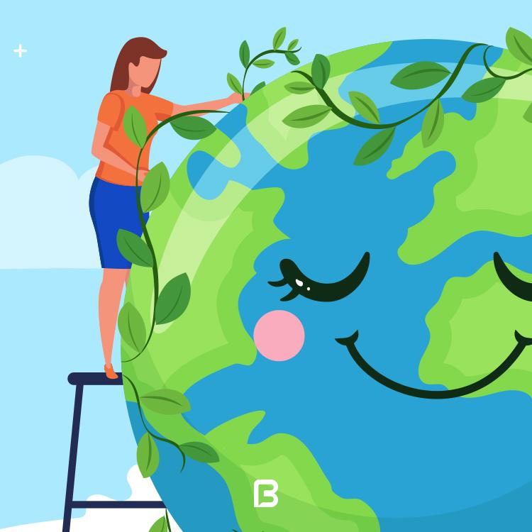 وکتور کره زمین لایه باز