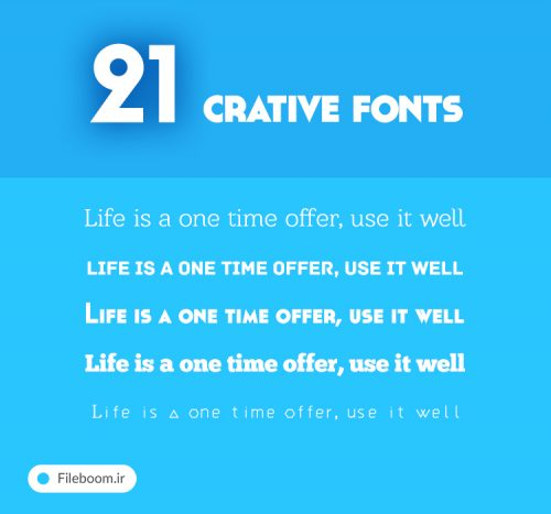 21crativefonts 500x467 - ۲۱crativefonts